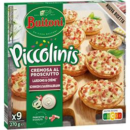Buitoni Buitoni Piccolinis - Mini pizzas lardons & crème les 9 mini pizzas de 30 g