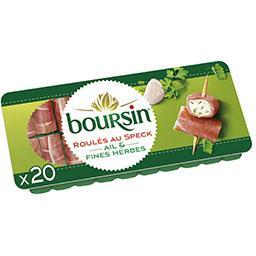 Boursin Boursin Apéritif - Roulés de fromage jambon fumé et ail & fines herbes le plateau de 20 roulés - 100 g
