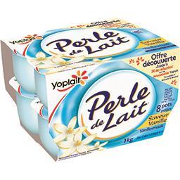Yoplait Yoplait Perle de lait - spécialité laitière à la vanille les 8 pots de 125g - 1kg