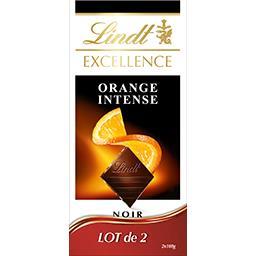 Excellence Lindt Excellence - Chocolat noir orange intense le lot de 2 tablettes de 100 g
