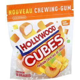 Hollywood Hollywood Cubes - Chewing-gum cocktail de fruits sans sucres le sachet de 18 dragées - 41 g