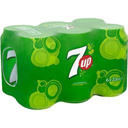 Seven Up Seven Up Boisson gazeuse aux extraits de citron & citron vert les 6 canettes de 33 cl