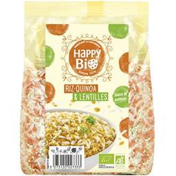 Happy Bio Happy bio Riz quinoa & lentilles BIO le sachet de 500 g