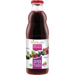 Biofrutti Biofrutti Pur jus multifruits Super Fruits BIO la bouteille de 700 ml