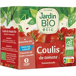 Jardin Bio Jardin bio étic - Coulis de tomate BIO la brique de 500 g