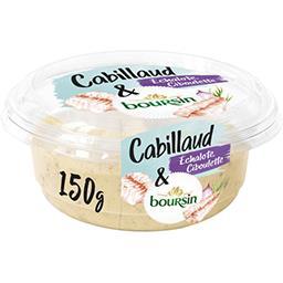 Boursin Boursin Tartinable apéritif cabillaud échalote & ciboulette le pot de 150 g