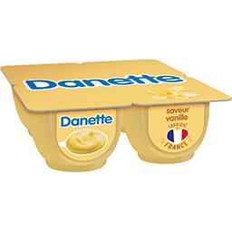 Danone Danone Danette - Crème dessert saveur vanille les 4 pots de 125 g