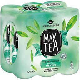 May Tea May Tea Boisson thé vert infusé parfum menthe les 6 canettes de 33 cl