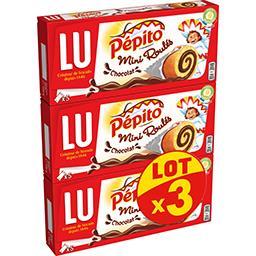 LU LU Pépito - Mini Roulés chocolat les 3 paquets de 150 g
