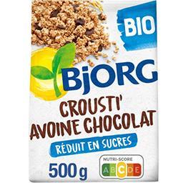 Bjorg Bjorg Céréales Crousti' Avoine chocolat BIO le sachet de 500 g