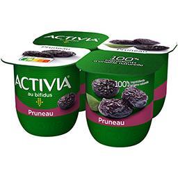 Danone Danone - Activia bifidus aux fruits pruneau les 4 pots de 125g