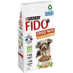 Fido Fido Croq Mix - Croquettes volaille et légumes pour chien senior le sac de 2,5 kg