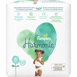 Pampers Pampers Harmonie taille 6, 13kg+ Le paquet de 22 couches