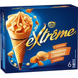 Nestlé Extrême L'Original - Glaces macaron caramel pointe de sel la boite de 6 - 426 g