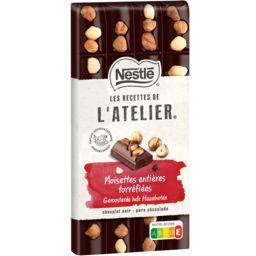 Nestlé Nestlé Grand Chocolat Les Recettes de l'Atelier - Chocolat noir noisettes entières torréfiées la tablette de 170 g