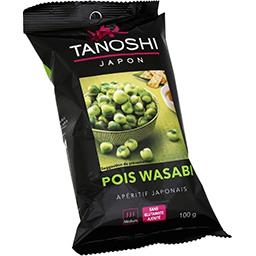 Tanoshi Tanoshi Crackers japonais pois Wasabi le sachet de 100 g