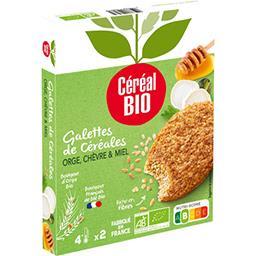 Céréal Bio Céréal Bio Galettes céréales orge chèvre miel BIO les 2 galettes de 100 g