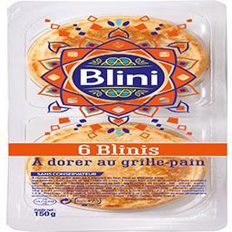 Blini Blini Blinis à dorer au grille pain la barquette de 6 - 150g