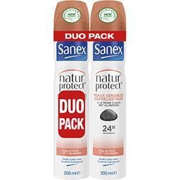 Sanex Sanex Natur Protect - Déodorant peaux sensibles 24 h les 2 bombes de 200 ml - Duo Pack