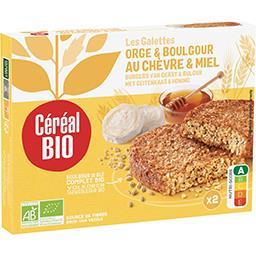 Céréal Bio Céréal Bio Galettes orge & boulghour au chèvre & miel BIO les 2 galettes de 100 g