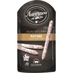 Auvernou Auvernou Mini sticks saucisson sec nature le sachet de 100 g