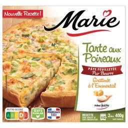 Marie Marie Tarte aux Poireaux Gratinée à l'Emmental la tarte de 400g