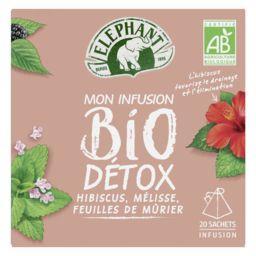 Lipton Eléphant Mon Infusion BIO Détox la boite de 20 sachets - 34 g