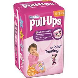 Huggies Huggies Culottes d'apprentissage Pull-Ups fille, taille S : 8-15 kg le paquet de 16