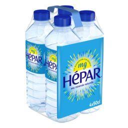 Hépar Hépar Eau minérale naturelle les 4 bouteilles de 50 cl