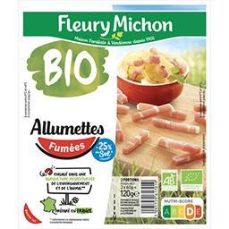 Fleury Michon Fleury Michon Allumettes fumées BIO réduit en sel les 2 barquettes de 60g