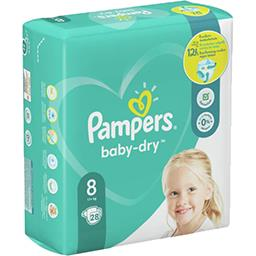 Pampers Pampers Couches baby-dry taille 8, 17kg+ Le paquet de 28 couches