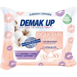 Demak'Up Demak'up Lingettes Douceur Coton peaux normales ou mixtes le paquet de 25