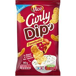 Curly Curly Dip cacahuete le sachet de 80g