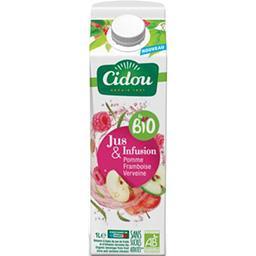 Cidou Cidou Le BIO - Boisson jus & infusion pomme framboise verveine BIO la brique de 1 l