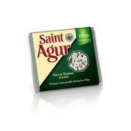 Saint Agur Saint agur Fromage à pâte persillée la boite de 190 g - Maxi Pack