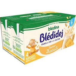 Blédina Blédina Blédidej - Céréales au lait de suite saveur biscuité, dès 6 mois les 4 briques de 250 ml