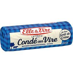 Elle & Vire Elle & Vire Beurre traditionnel doux la plaquette de 250 g