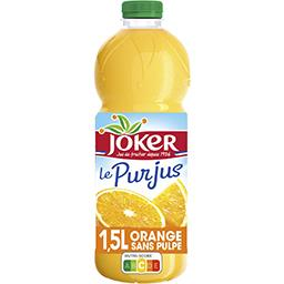 Joker Joker Le Pur Jus - Jus d'orange sans pulpe la bouteille de 1,5 l