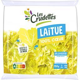 Les Crudettes Les Crudettes Laitue 100% Cœur le sachet de 150 g