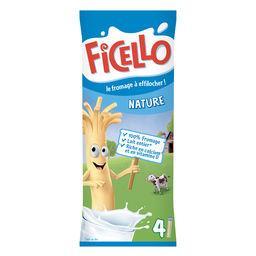 Ficello Ficello Le Fromage à Effilocher nature les 4 bâtonnets de 21 g