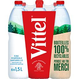 Vittel Vittel Eau minérale naturelle les 6 bouteilles de 1,5 l