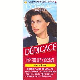 L'Oréal L'Oréal Paris Dédicace - Crème fluide colorante châtain 42, s'estompe en 6 à 8 shampooings la boite