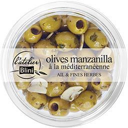 Blini L'Atelier Blini Olives manzanilla a la mediterraneenne Le pot de 150g