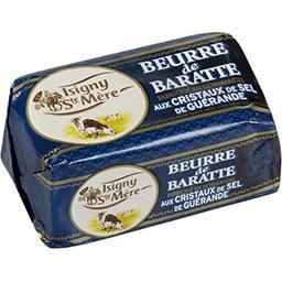 Isigny Sainte-Mère Isigny Ste Mère Beurre de baratte aux cristaux de sel de Guérande la plaquette de 250 g