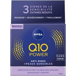 Nivea Nivea Q10 Power - Anti-rides + Apaisant, peau sensible le pot de 50 ml
