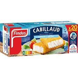 Findus Findus Panés de cabillaud sauvage la boite de 20 - 1,020 kg - Maxi Format