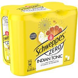 Schweppes Schweppes Soda Indian Tonic Zero les 6 canettes de 33 cl