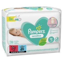 Pampers Pampers Lingettes pour bébé sensitive Le paquet de 156lingettes