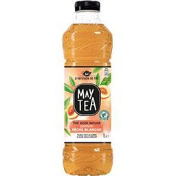 May Tea May Tea Thé noir infusé parfum pêche blanche la bouteille de 1 l