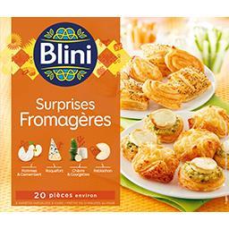 Blini Blini Feuilletés Surprises Fromagères la boite de 20 pièces - 250 g